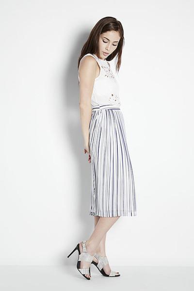 Adela Mei | Illusion Striped Skirt | Joa | | Adela Mei