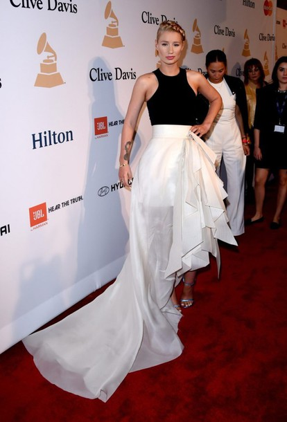 skirt top iggy azalea gown grammys 2015