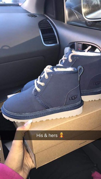 Shoes Ugg Boots Blue Neumel Uggs Cute Navy Winter