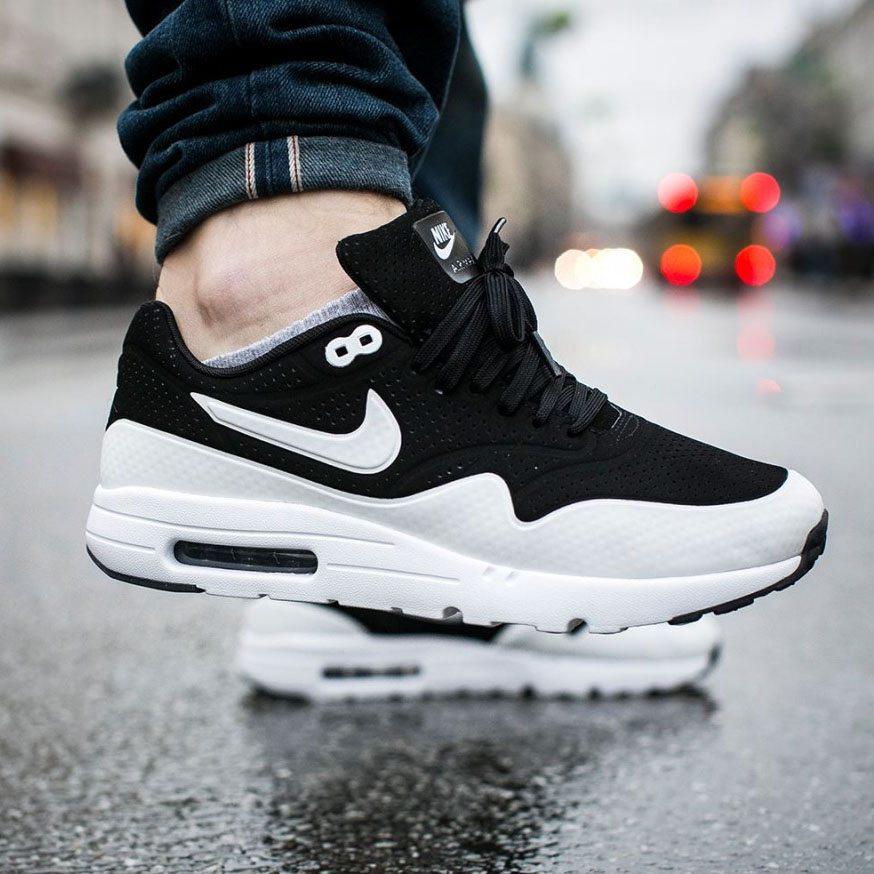 newest c015a 7dae0 NIKE Air Max 1 Ultra Moire Black   Grey   SOLETOPIA