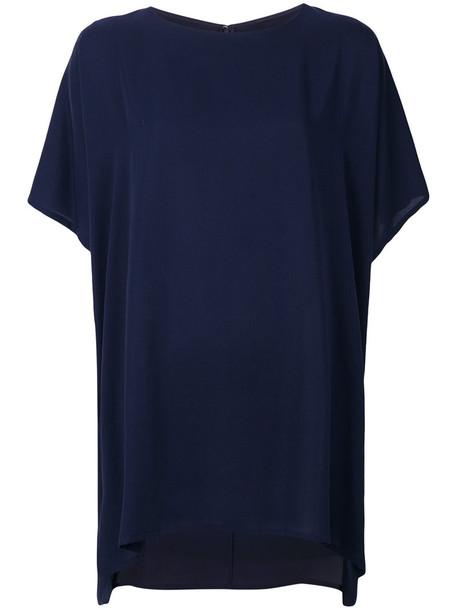 blouse women fit blue top