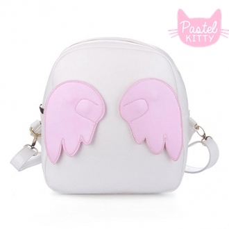 bag backpack back pack wings wing backpack wing purse purse kawaii fashion japanese fashion tokyo fashion tokyo harajuku fashion harajuku harajuku style tokyo style pastel fashion kawaii kawaii bag