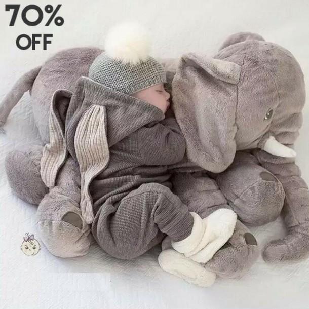 Sweater Baby Clothing Elephant Onesie Grey Wheretoget
