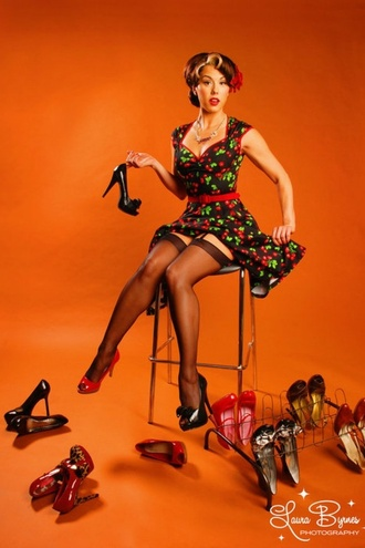cherry shoes 50s style retro dress cute shoes