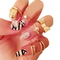 7pcs gold skull bowknot heart nail stacking rings set