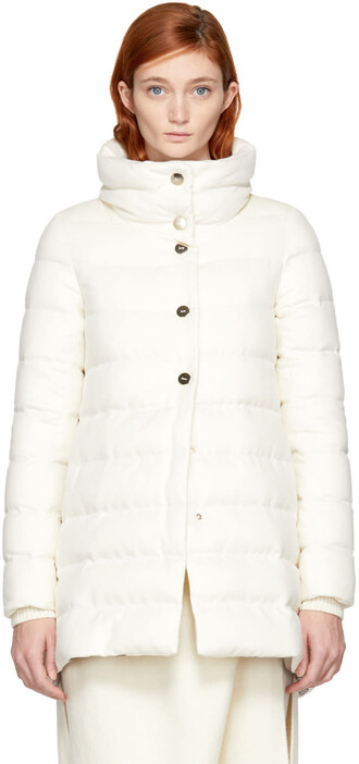 coat high high low white silk