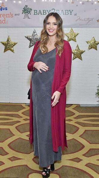 dress maxi dress jessica alba maternity maternity dress cardigan