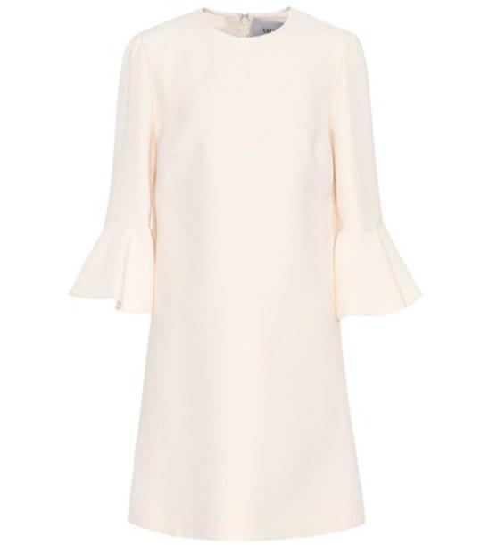 Valentino dress silk dress silk wool white