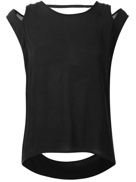 Barbara I Gongini blouse women cold black top