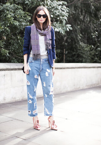garance dore torn jeans shoes high heels