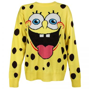 MOSCHINO Spongebob Front Oversized Knit Sweater