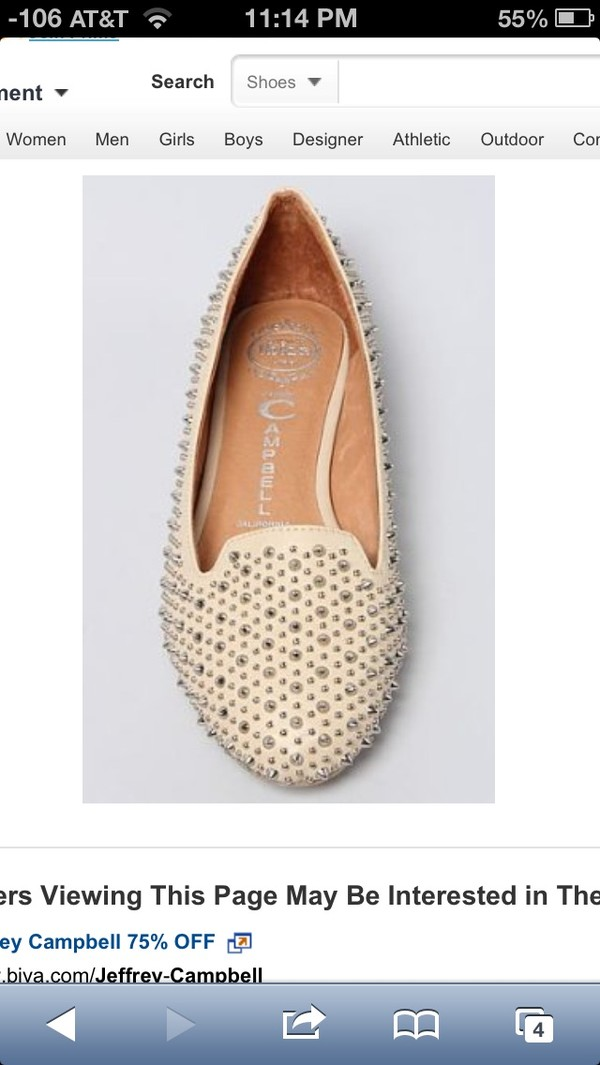 shoes jeffrey campbell flats studded flats