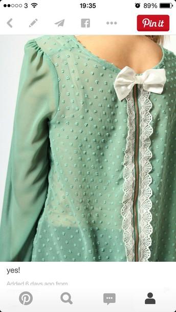 blouse turquiose