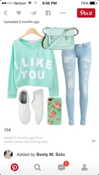 sweater style outfit top jeans shoes bag pants