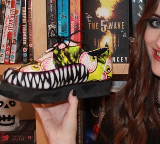 shoes monster grunge creepy creepers girl unk funny book library cool fashion cute style