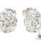 Si round cut stud earring mens diamond earring white gold 14k