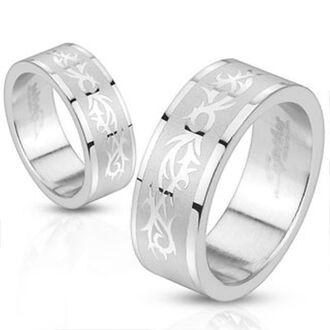 jewels mystic steel jewelry stainless steel ring tribal pattern stainlessteel
