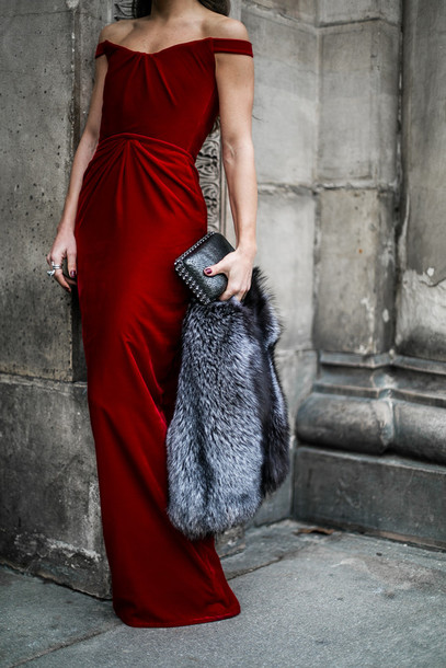 02328f574868 dress tumblr red dress long dress maxi dress cocktail dress off the shoulder  off the shoulder