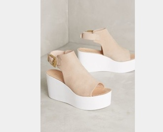 shoes platform shoes nude nude heels