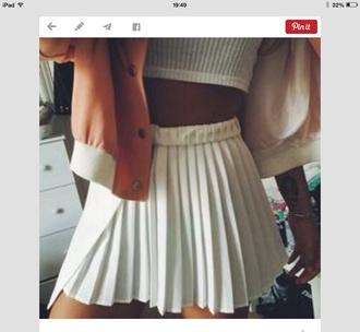 skirt tennis skirt white skirt pleated skirt