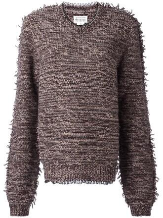 jumper women white cotton wool sweater