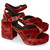 Burnt Orange Velvet Skelter Sandals