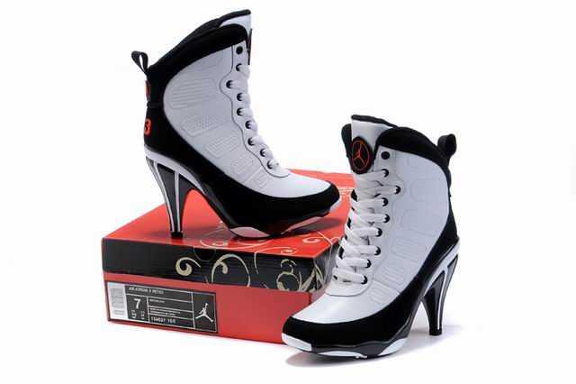 quality design fa9ad d1cda Nike Chaussures Air Jordans 9 hauts talons Blanc Noir   Nike Air ...