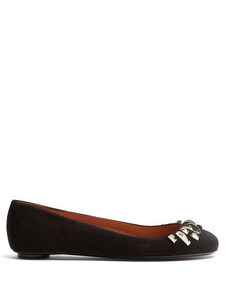 SAMUELE FAILLI ballet flats ballet flats suede silver black shoes