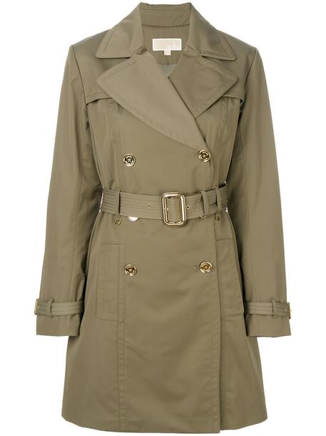 coat trench coat women classic spandex cotton green