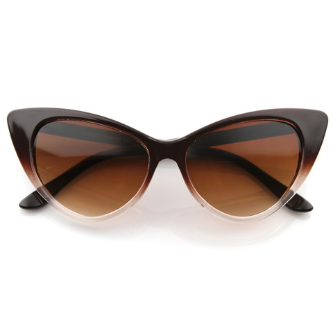 Retro 1950's Pointed Cat Eye Fashion Sunglasses 8571                           | zeroUV