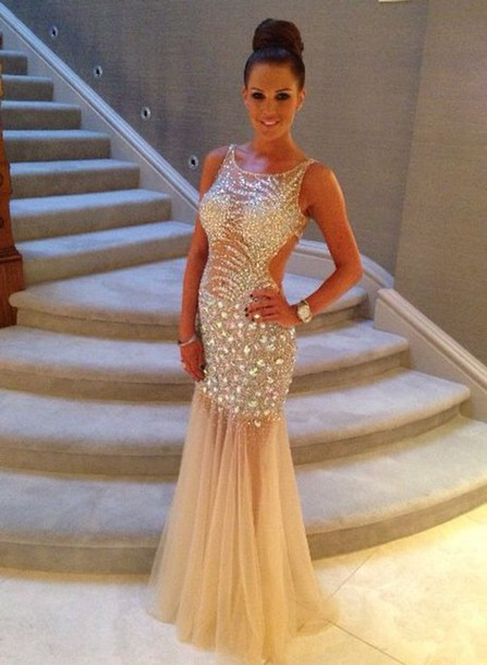 Crystals Beaded Prom Dress