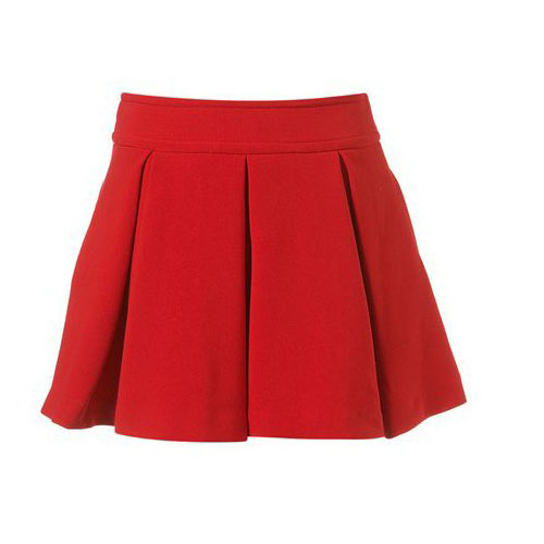 Bnw Palace Princess High Waisted Red Pleated Mini Skirt | eBay