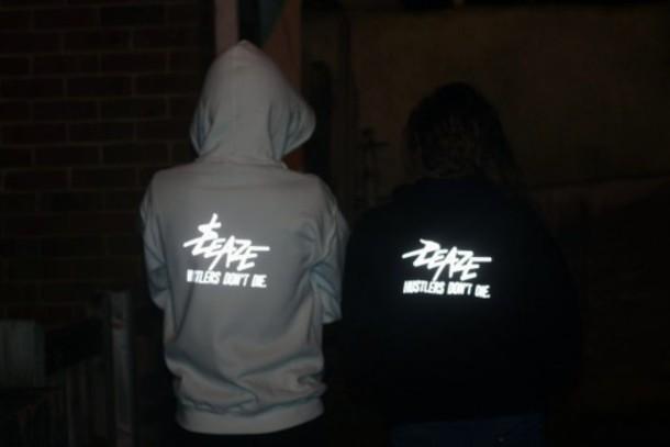 jacket be sweatshirt hoodie glow in the dark reflective black white black and white based based clothing tumblr tumblr clothes tumblr hoodie sweater grunge