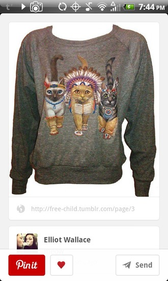 cats pullover native american kyle simmons bastille