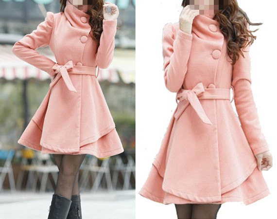 Pink Color Princess style cape dress Coat door colorfulday01