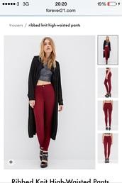 jeans,burgundy jeans