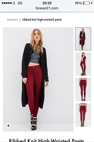 jeans burgundy jeans