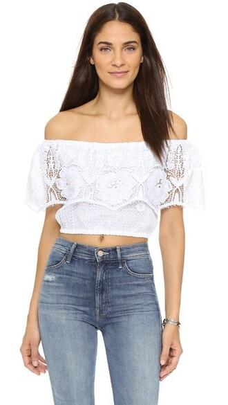blouse beach white top