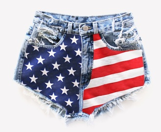 shorts usa flag