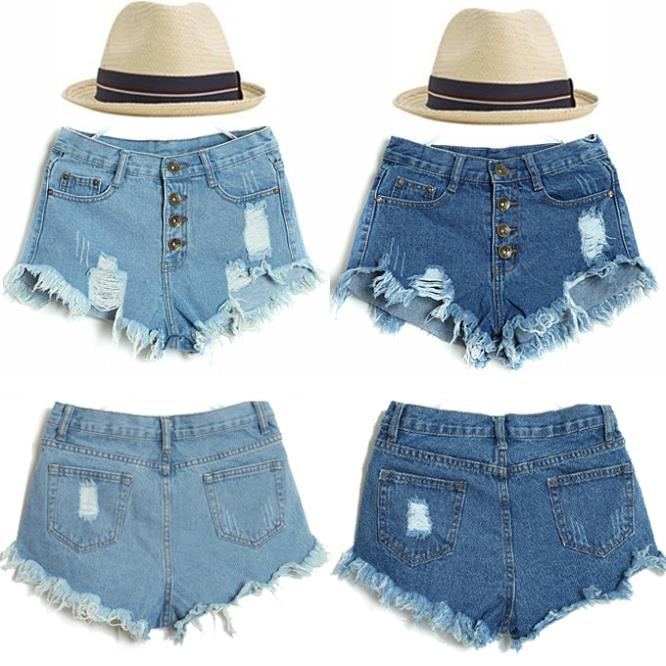 Aliexpress.com : buy 2014 new women vintage high waist feminino ripped hole ultra short jeans denim female distress shorts jeans from reliable pant hooks suppliers on shenzhen gache trading limited