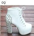 Online Shop Fashion Women Ladies 4 Color Lita platforms high heels Lace Up Ankle shoes boots size US5~US9|Aliexpress Mobile
