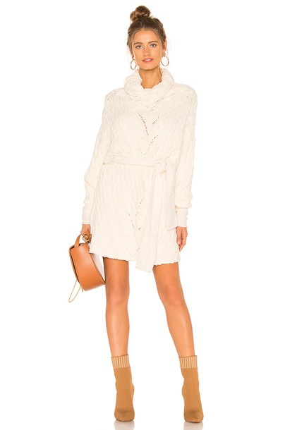 Free People For The Love Of Cables Dress in ivory