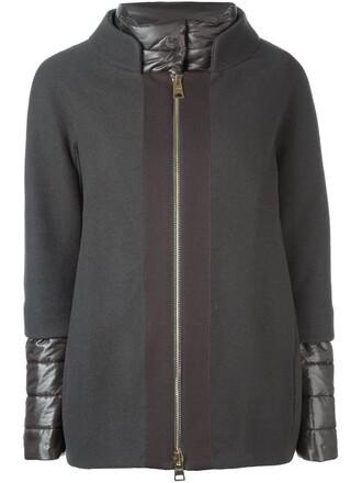 jacket layered grey
