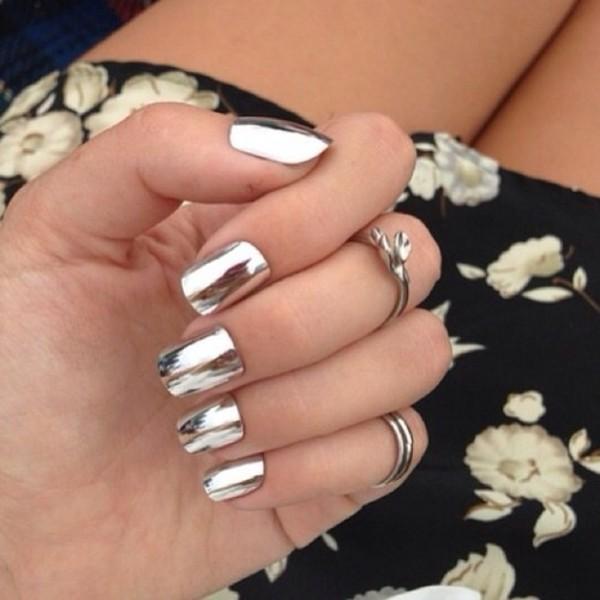 nail polish nails nail stickers silver