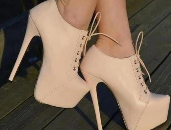 shoes beige shoes ankle boot heels