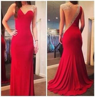 dress prom dress red dress 2014 prom dresses jewls