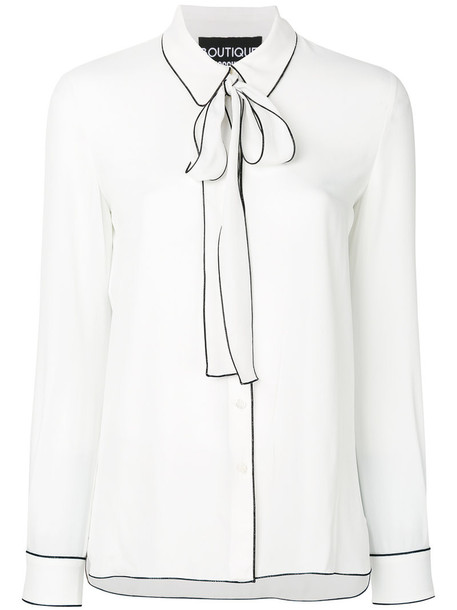 BOUTIQUE MOSCHINO blouse women white silk top