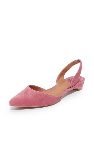 flats suede rose pink shoes