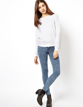 ASOS | ASOS Fine Knit Sweater with Crew Neck at ASOS