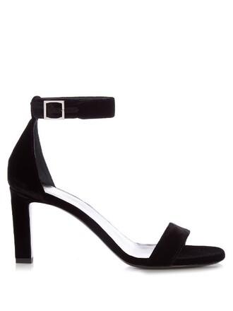 sandals velvet sandals velvet black shoes